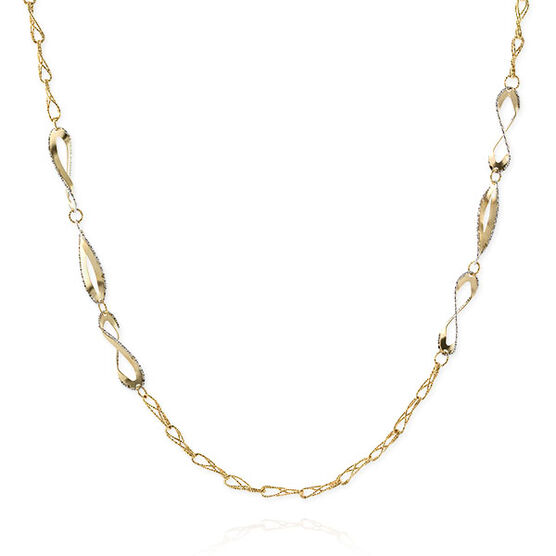 Toscano Double Curb Necklace 18K