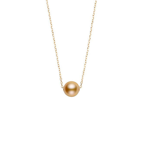 Mikimoto Cultured Golden South Sea Pearl Necklace 18K