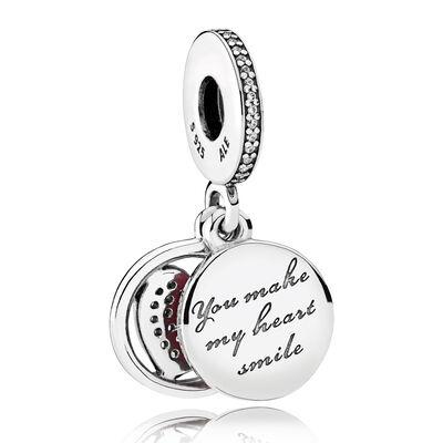 PANDORA Devoted Heart Enamel & CZ  Charm