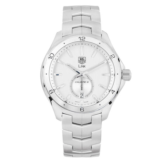 Pre-Owned TAG Heuer Link Silver Dial Watch, 40mm