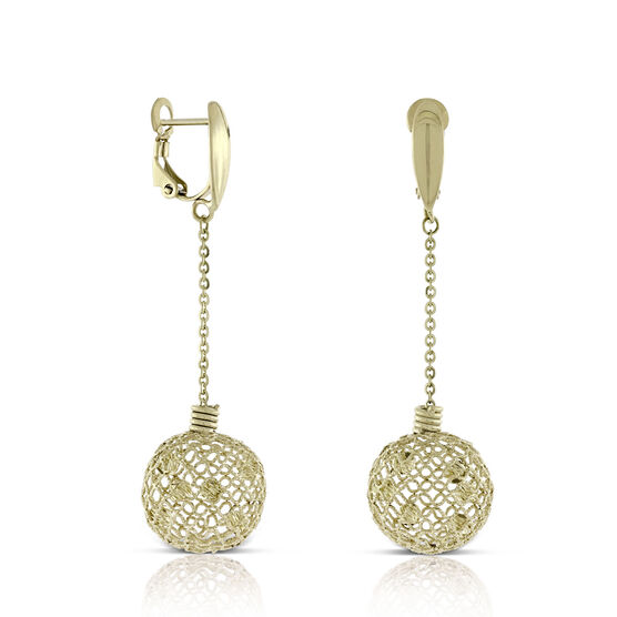 Toscano Globe Drop Earrings 14K
