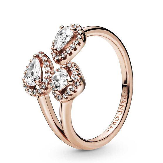 Pandora Rose™ Geometric Shapes Open CZ Ring
