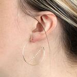Geometric Hoop Earrings 14K