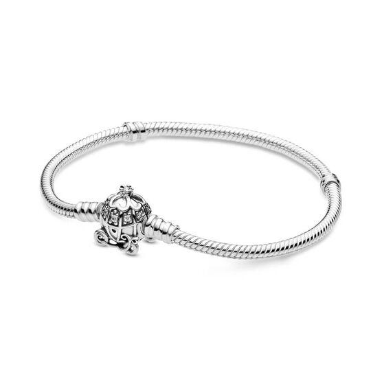 Pandora Disney Cinderella Pumpkin Coach CZ Clasp Pandora Moments Bracelet