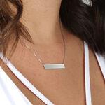 Engravable Bar Necklace 14K