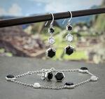 Lisa Bridge Onyx &  Mother of Pearl Bracelet