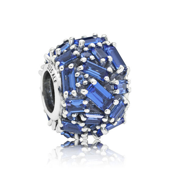 Pandora Chiselled Elegance Blue Crystal Charm