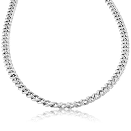 """Curb Chain in Sterling Silver, 24"""""""