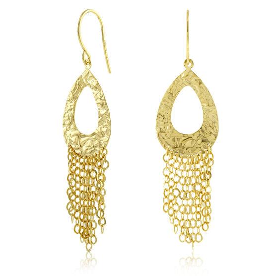 Pear Dangle Earrings 14K