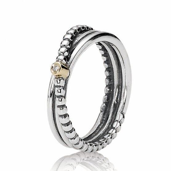 PANDORA Kerry's Diamond Ring, Silver & 14K