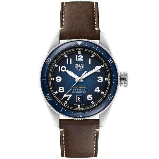 TAG Heuer Autavia Isograph Smoky Blue Dial Watch