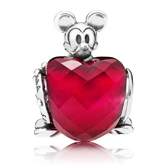 Pandora Disney, Mickey Love Heart Crystal Charm