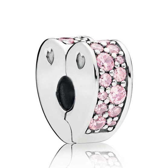 PANDORA Pink Arcs of Love CZ Clip