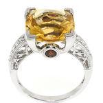 Citrine & Diamond Ring 14K