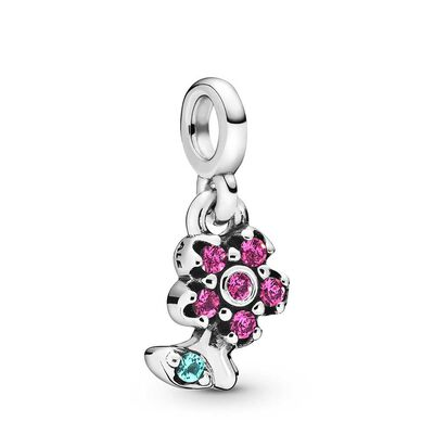 Pandora Me My Pretty Flower Crystal Dangle Charm