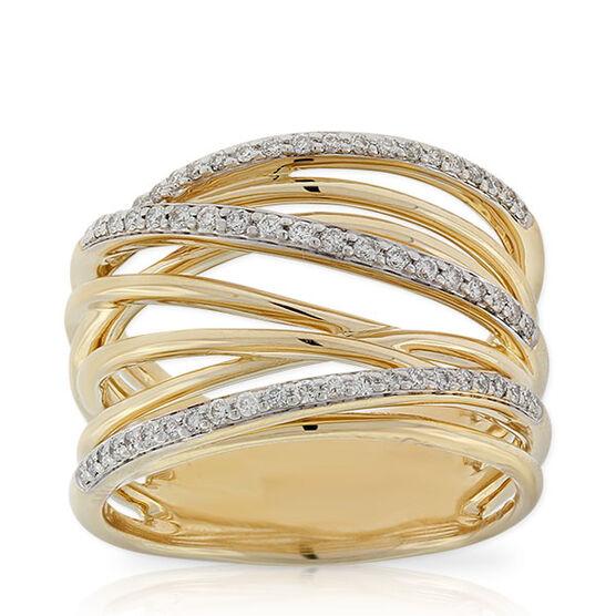 Multi-Band Diamond Ring 14K