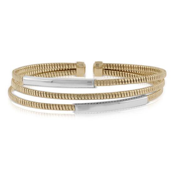 Toscano Tubogas Cuff Bracelet 14K