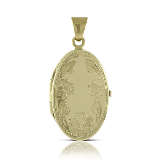 Toscano Oval Flower Locket 18K
