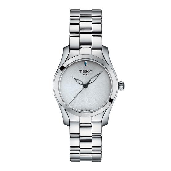 Tissot T-Wave Silver Dial Steel Quartz Watch, 32mm
