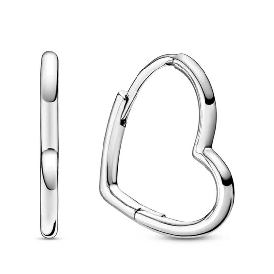 Pandora Asymmetrical Heart Hoop Earrings