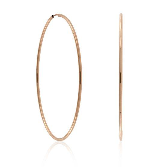 Rose Gold Endless Hoop Earrings 14K