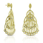 Toscano 3-Tier Drop Earrings 14K