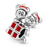 Pandora Disney Mickey Mouse and Minnie Mouse Present Enamel Charm