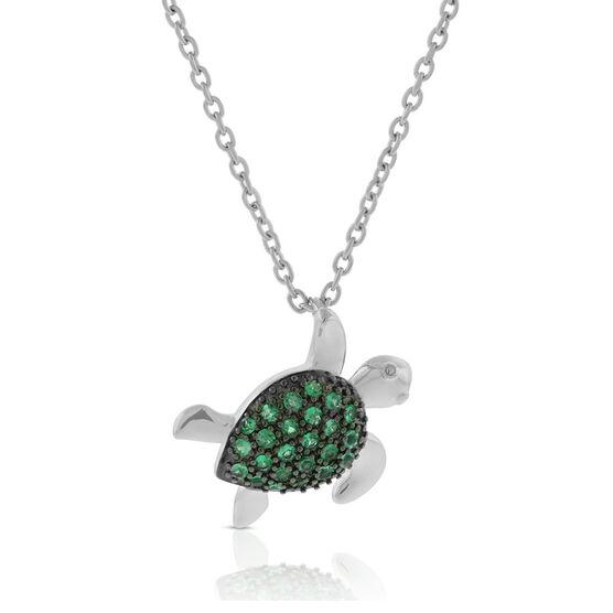 Lisa Bridge Emerald Turtle Necklace
