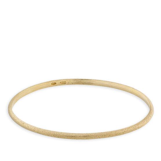Oval Bangle Bracelet, 18K over Sterling Silver