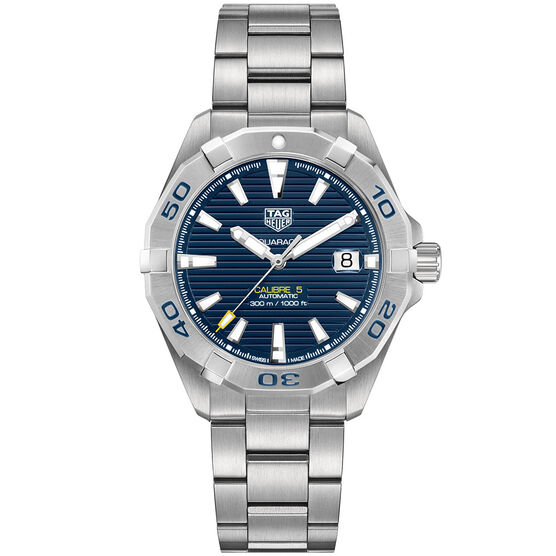 TAG Heuer Aquaracer Blue Dial Automatic Caliber 5 Watch