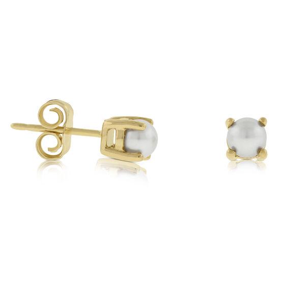 Cultured Freshwater Pearl Stud Earrings 14K