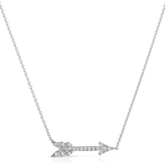 Roberto Coin Tiny Treasures Diamond Arrow Necklace 18K
