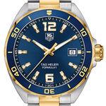TAG Heuer Formula 1 Quartz Mens Blue Steel Yellow Gold Watch
