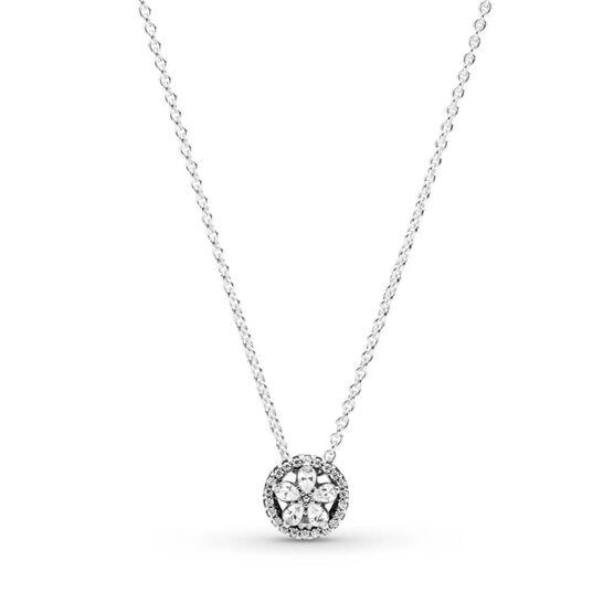 Pandora Sparkling Snowflake Collier CZ Necklace