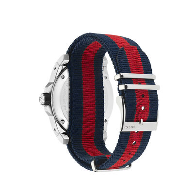 Gucci DIVE Blue / Red Strap Watch