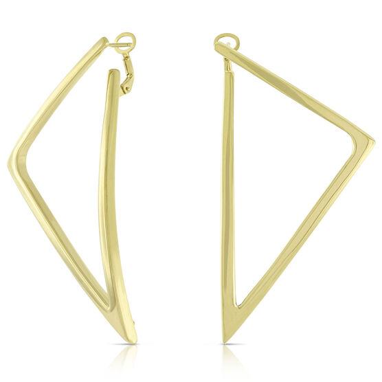 Toscano Triangle Earrings 14K