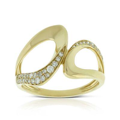 Diamond Open Swoop Ring 14K