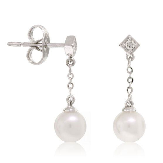 Freshwater Cultured Pearl Earrings 14K
