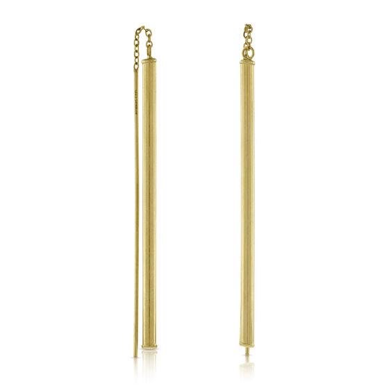 Linear Threader Earrings 14K