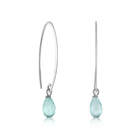 Aquamarine Earrings 14K
