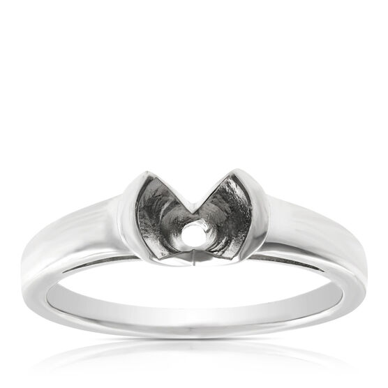 Semi-Mount Ring in Platinum
