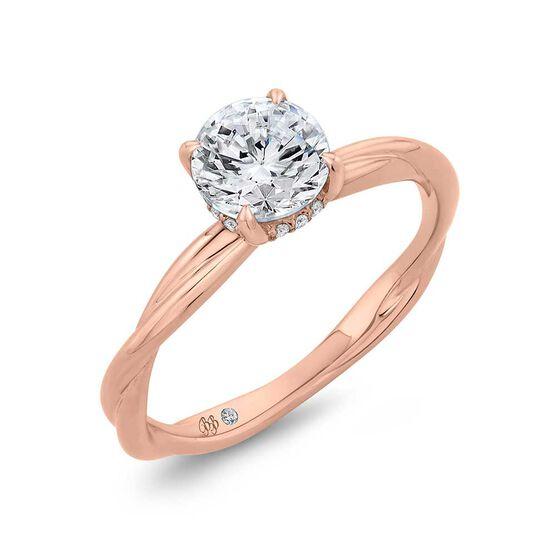 Bella Ponte Rose Gold Diamond Engagement Ring Setting 14K