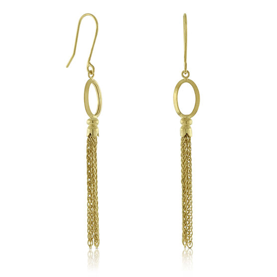 Tassel Dangle Earrings 14K