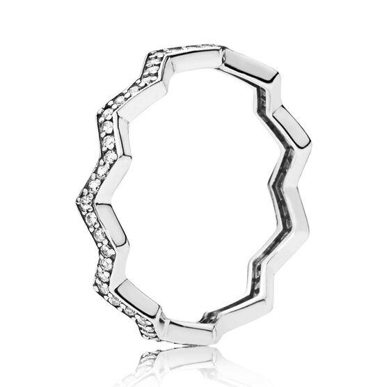 Pandora Shimmering Zigzag CZ Ring