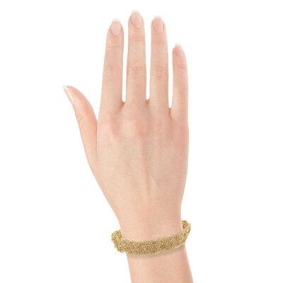 Toscano Braided Five-Strand Bracelet 18K