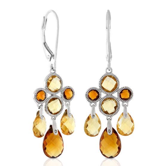 Citrine Chandelier Dangle Earrings 14K