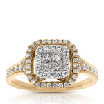 Pavé Diamond Ring 14K