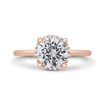 """Bella Ponte """"The Whisper"""" Rose Gold Diamond Engagement Ring Setting 14K"""
