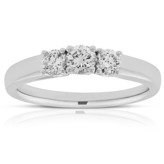 Three Diamond Band 14K, 1/2 ctw.
