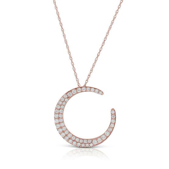 Rose Gold HOPECIRCLE Diamond Pendant 14K, 1/2 ctw.